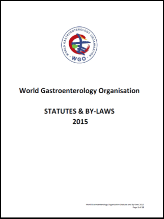 World Gastroenterology Organisation Statutes By-Laws 2014