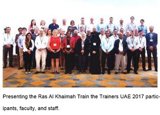 Presenting the Ras Al Khaimah Train the Trainers UAE 2017 participants, faculty, and staff.