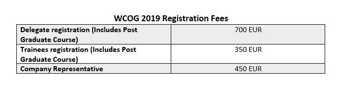 WGO WCOG2019 Updated Registration - 5/24/19