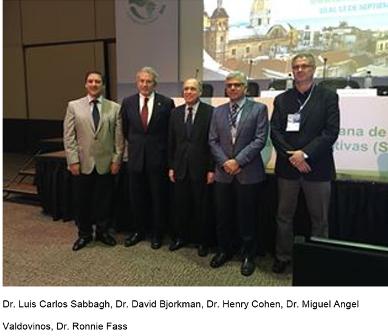 Dr. Luis Carlos Sabbagh, Dr. David Bjorkman, Dr. Henry Cohen, Dr. Miguel Angel Valdovinos, Dr. Ronnie Fass
