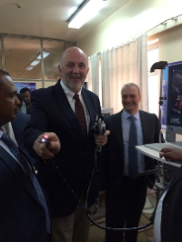 Professor Desmond Leddin (WGO Training Center Director) at the launch of the Addis Ababa Training Center.