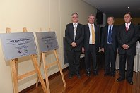Eamonn Quigley, Roberto Cocheteux, Henry Cohen and Luis Carlos Sabbagh unveil the WGO Training Center plaques.