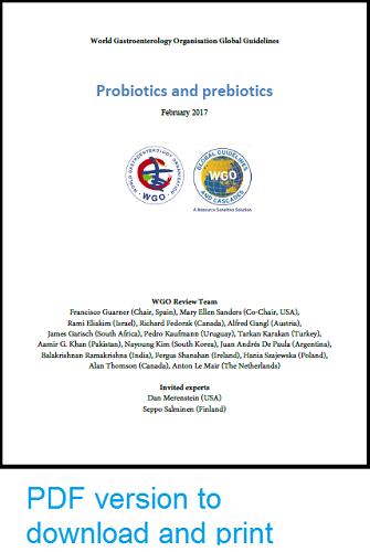 Guidance On Probiotics >> English World Gastroenterology Organisation