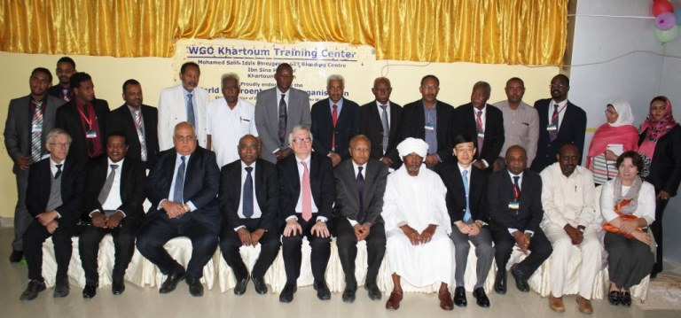 Attendees at the Khartoum Training Center inauguration ceremony.
