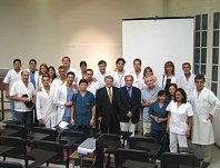 Faculty and staff at the La Plata Training Center opening ceremonies, March 2007