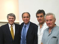 WGO Foundation Board Member Dr. Douglas LaBrecque with WGO Past President Henry Cohen and La Plata Faculty.
