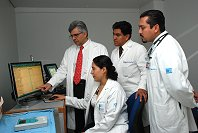 Mexico City Training Center Director Dr. Miguel Valdovinos instructs trainees.