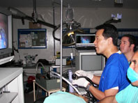 Dr. Tanimoto during an ESD at the WGO Mexico City Training Center.