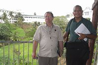 Professor Finlay Macrae and Dr Joji Malani at the WGO Suva Training Center